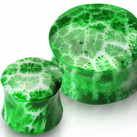 Piercing plug corail vert