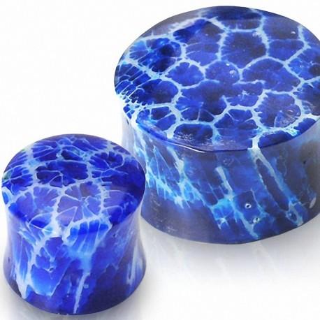 Piercing plug corail bleu
