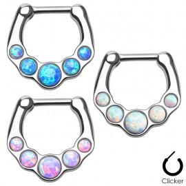 Piercing septum cinq opale
