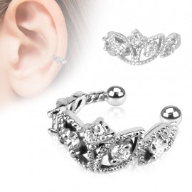 Faux piercing oreille perles strass