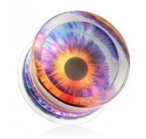 Piercing plug acrylique oeil