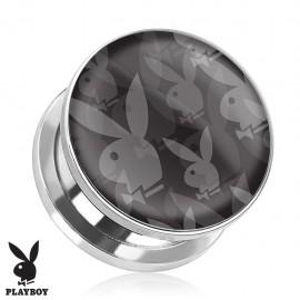 Piercing plug Playboy logos