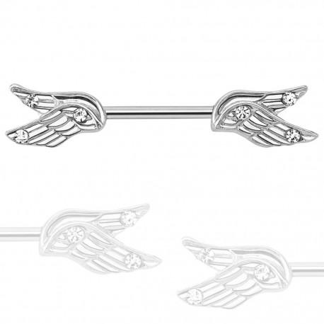 Piercing téton avec ailes d'ange