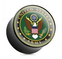 Piercing plug acrylique US Army