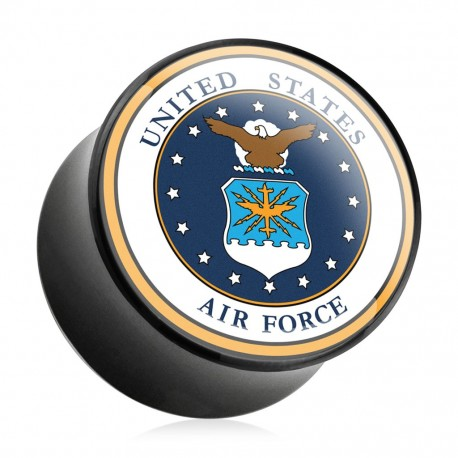 Piercing plug acrylique US Air Force