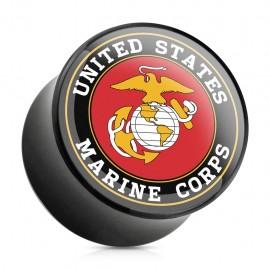 Piercing plug acrylique US Marine
