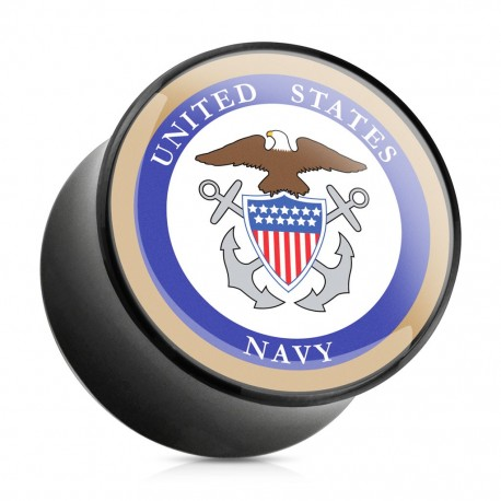 Piercing plug acrylique US Navy