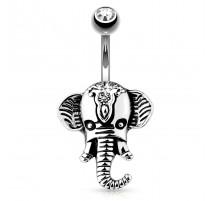 Piercing nombril éléphant