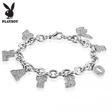 Bracelet Playboy charms strass
