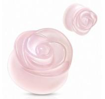 Piercing plug pierre quartz rose