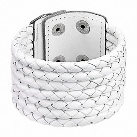 Bracelet cuir blanc 7 cordes