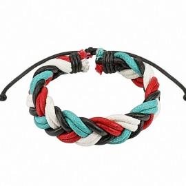Bracelet cuir homme quatre couleurs