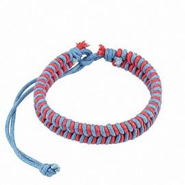 Bracelet cuir homme bleu rose
