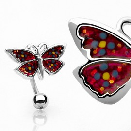 Piercing nombril Inversé Papillon