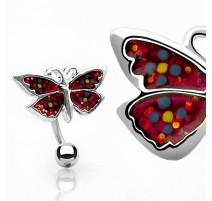 Piercing nombril Inversé Papillon