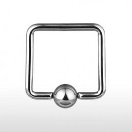 Piercing anneau Captif Carré