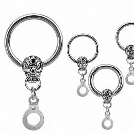 Piercing anneau Captif Crâne menotte