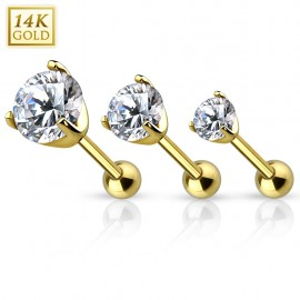 Piercing Cartilage Or jaune 14 Carats