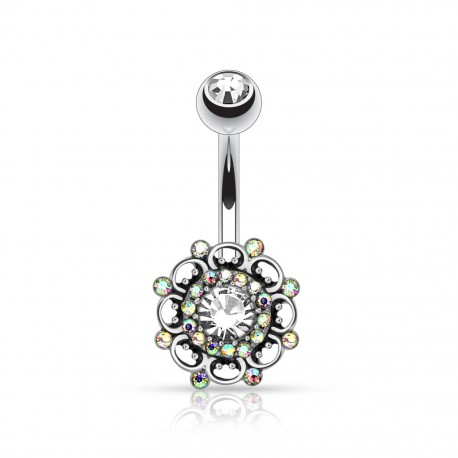 Piercing nombril broche vintage