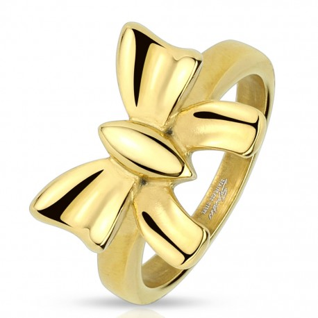 Bague femme noeud doré
