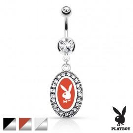 Piercing nombril Playboy médaillon