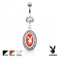 Piercing nombril Playboy médaillon
