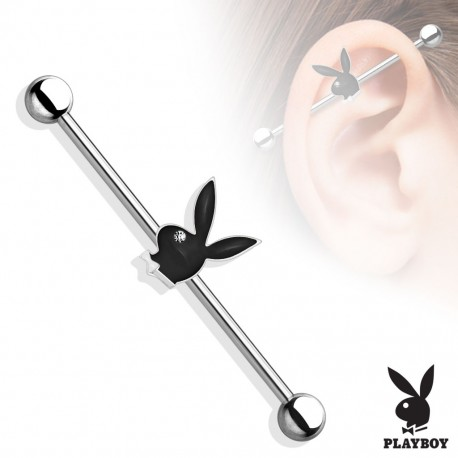 Piercing industriel Playboy rouge