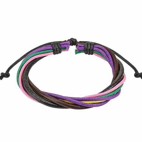 Bracelet homme cuir multicolore