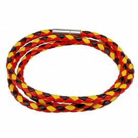 Bracelet cordes rouge noir jaune