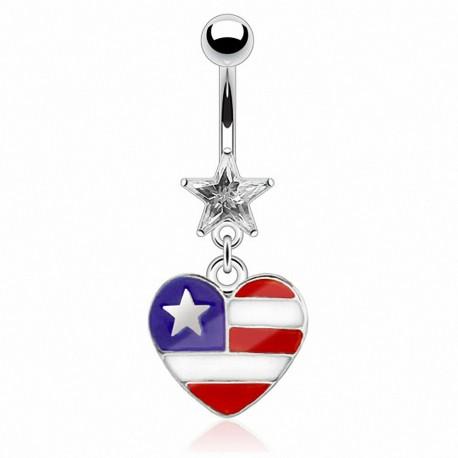 Piercing nombril coeur USA