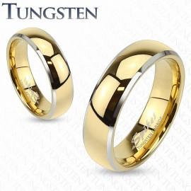 Bague tungstène dorée