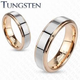 Bague tungstène or rose
