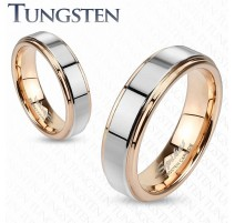 Bague tungstène or rose