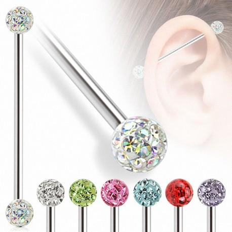 Piercing industriel crystal ferido