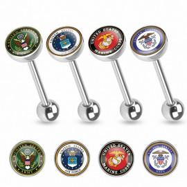 Piercing langue logo militaire USA