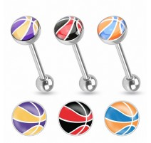 Piercing langue ballon de basket