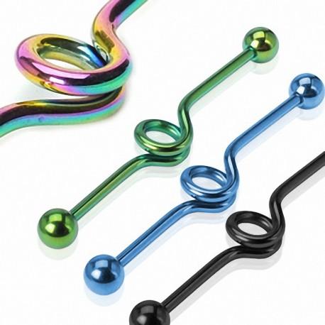"Piercing oreille industriel en titane ""Loop"""