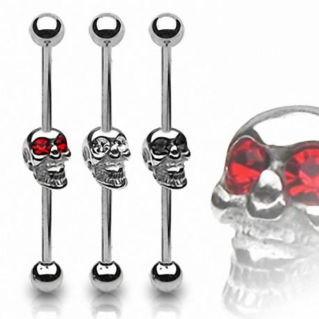 Piercing oreille Industriel Tête de mort
