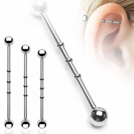 "Piercing oreille Industriel ""Notch"" Boules"