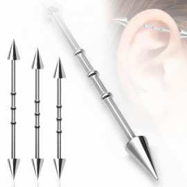 "Piercing oreille Industriel ""Notch"" Pointes"