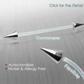 Piercing Barbell Surface Bioplast Pointes Acier