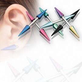 Piercing oreille longs spikes