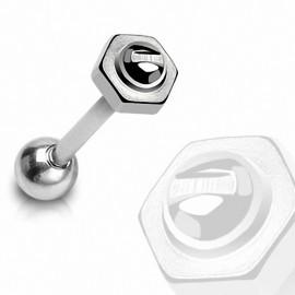 Piercing langue Boulon / Vis en acier chirurgical