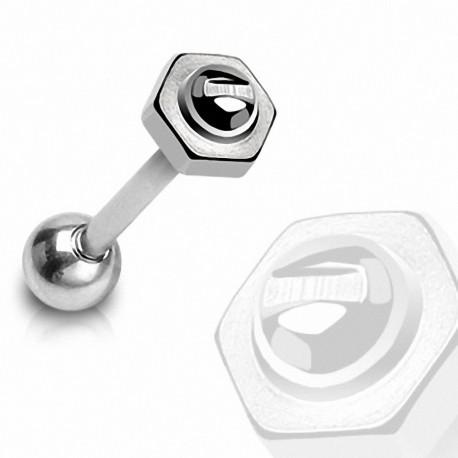 Piercing langue Boulon / Vis en acier chirurgical 8 mm