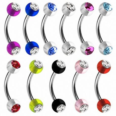 Piercing arcade acrylique strass