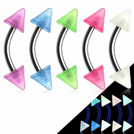Lot de 5 piercing arcade Pointes Pastelles