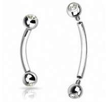 Piercing Arcade acier chirurgical Strass Clair