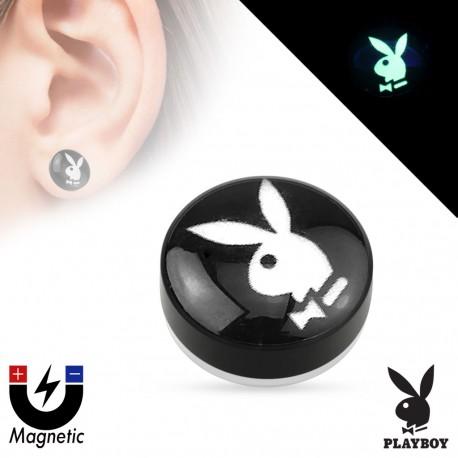 Faux piercing plug magnétique Playboy