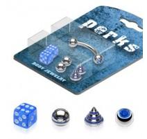 Pack Piercing Arcade Acier chirurgical Bleu - Bijou Piercing pour Arcade