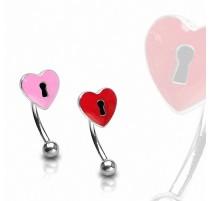 Piercing arcade Coeur Trou de serrure